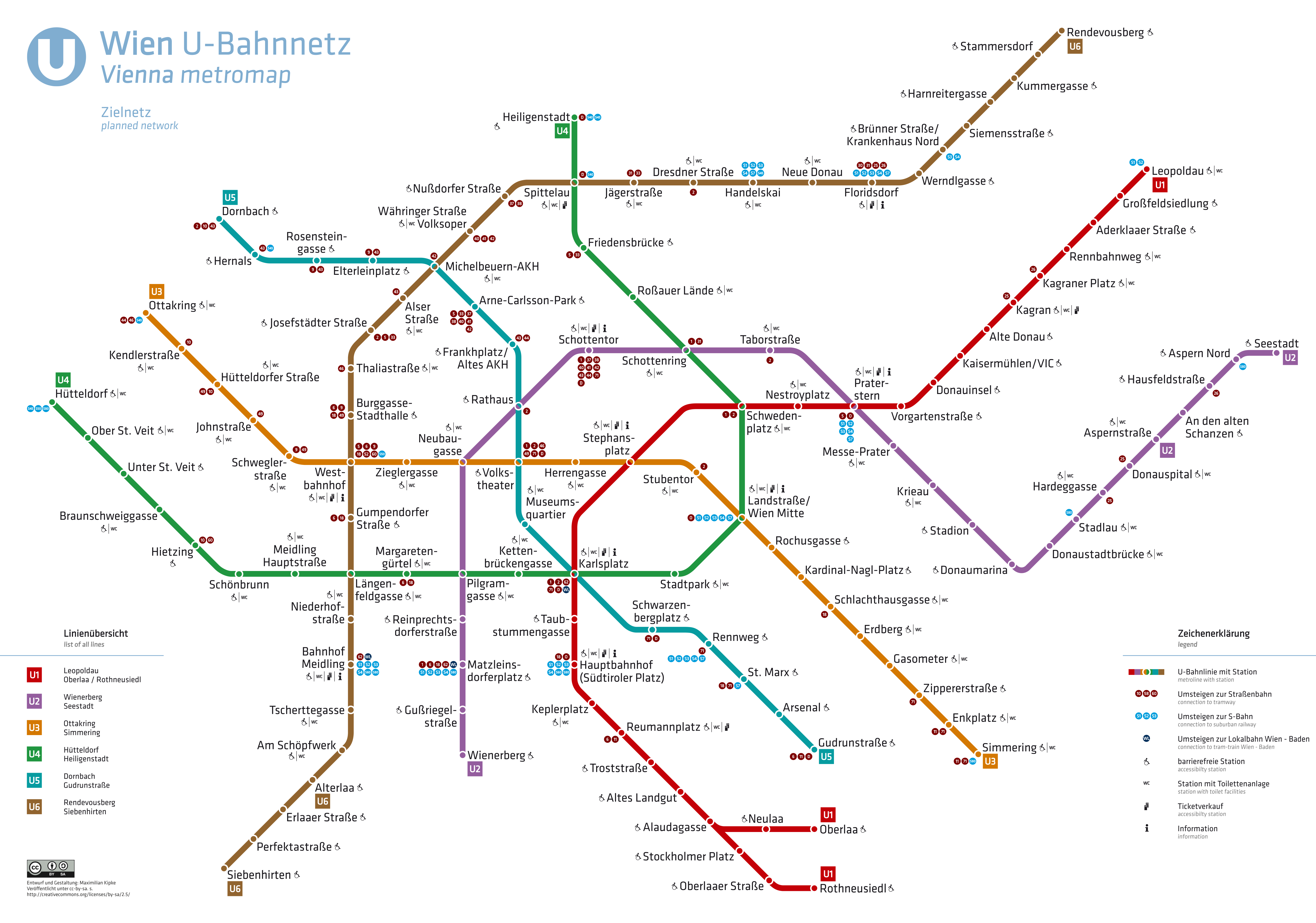 Wien Umbau U Bahn Station Karlsplatz U2u4 Linie Plus Extern