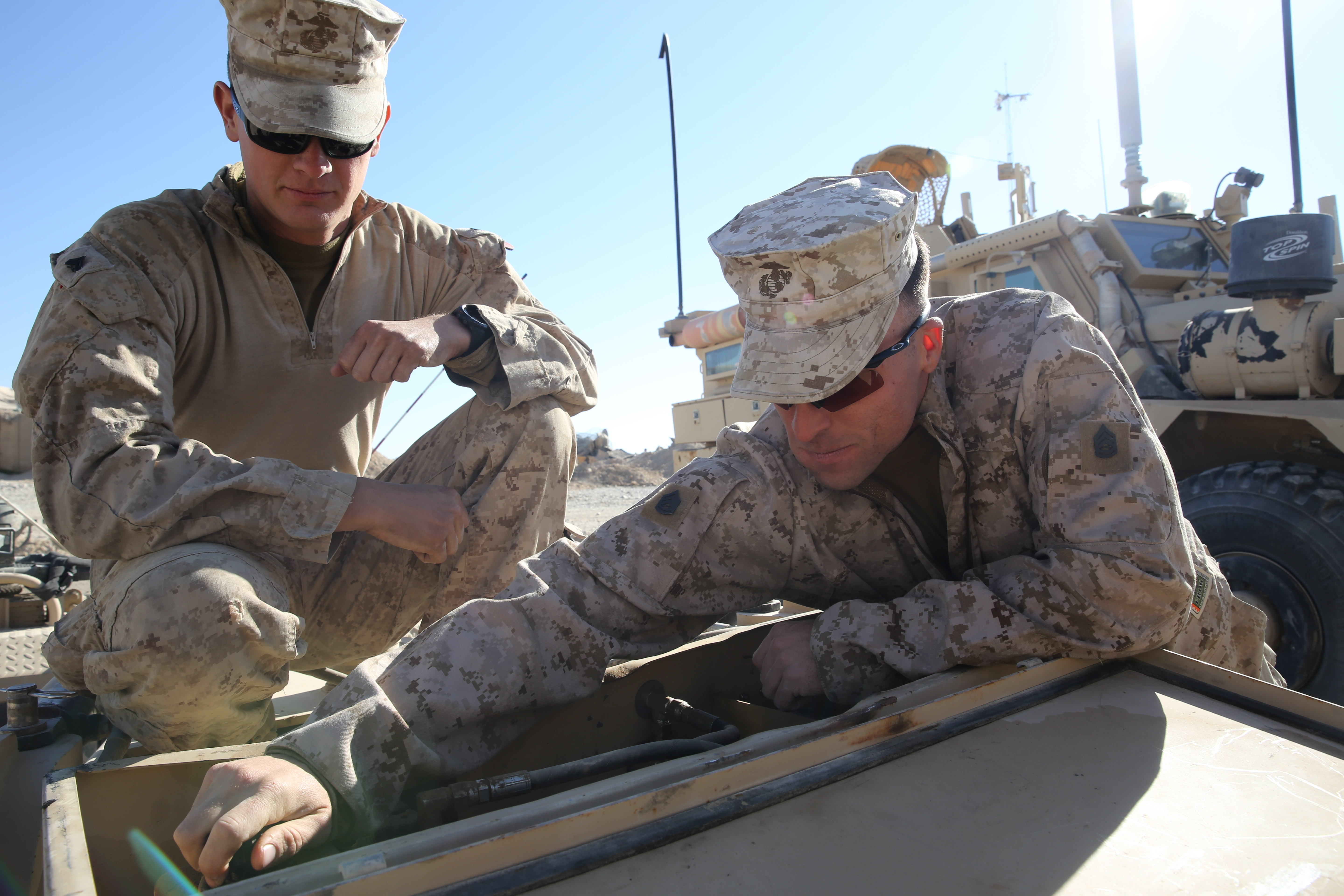 File:U.S. Marine Corps Gunnery Sgt. Brent R. Sheets, right, the ...