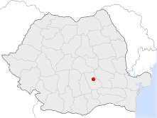 Location of Vălenii de Munte