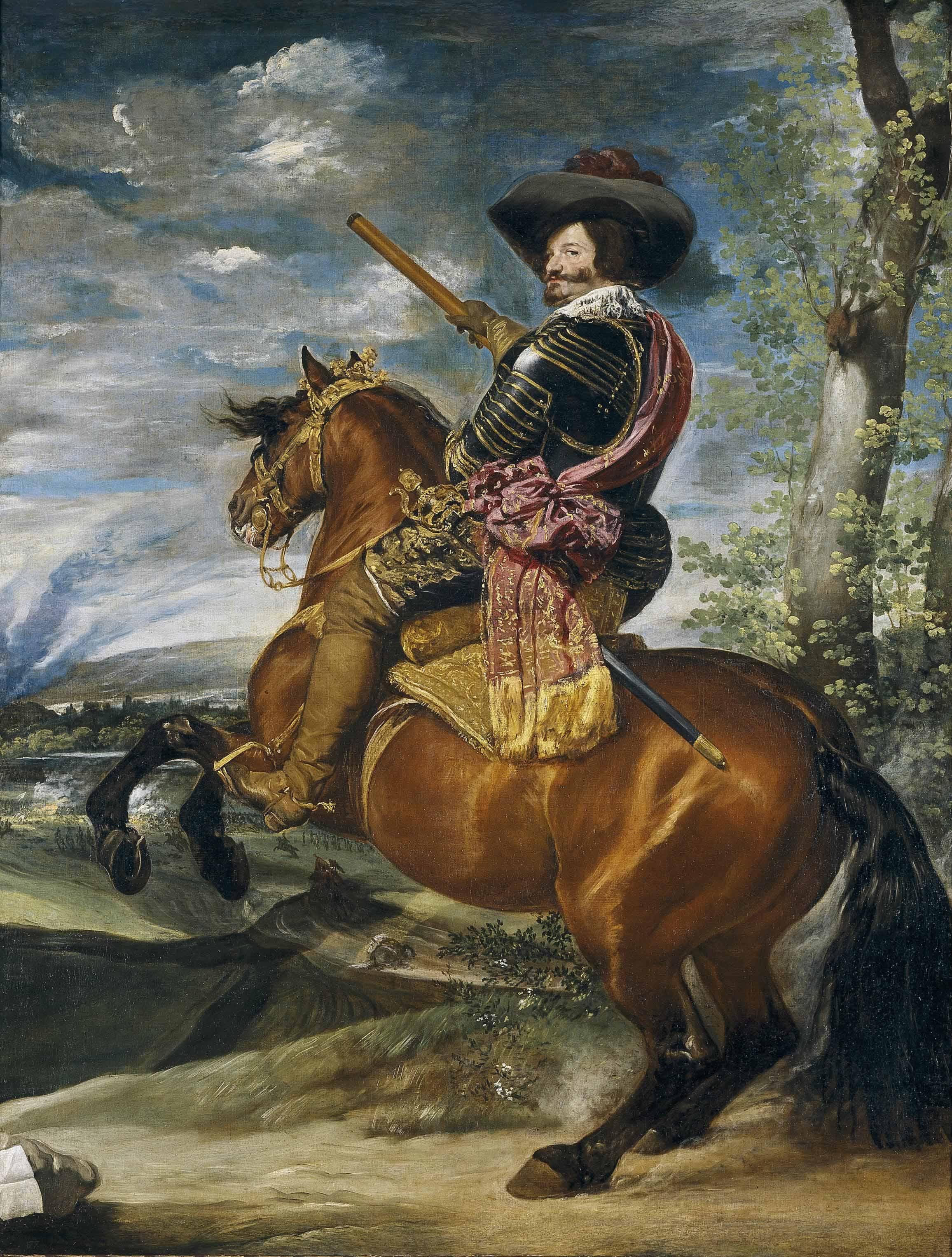 Gaspar de Guzmán, comte-duc d'Olivares, à cheval