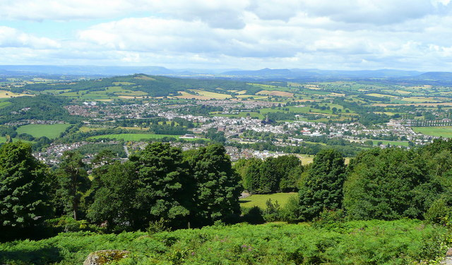 View west from The Kymin - geograph.org.uk - 890847
