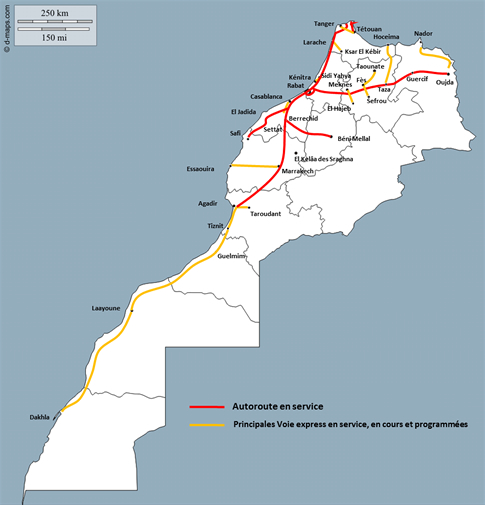 Marocco Cartina Stradale.Autostrade In Marocco Wikipedia