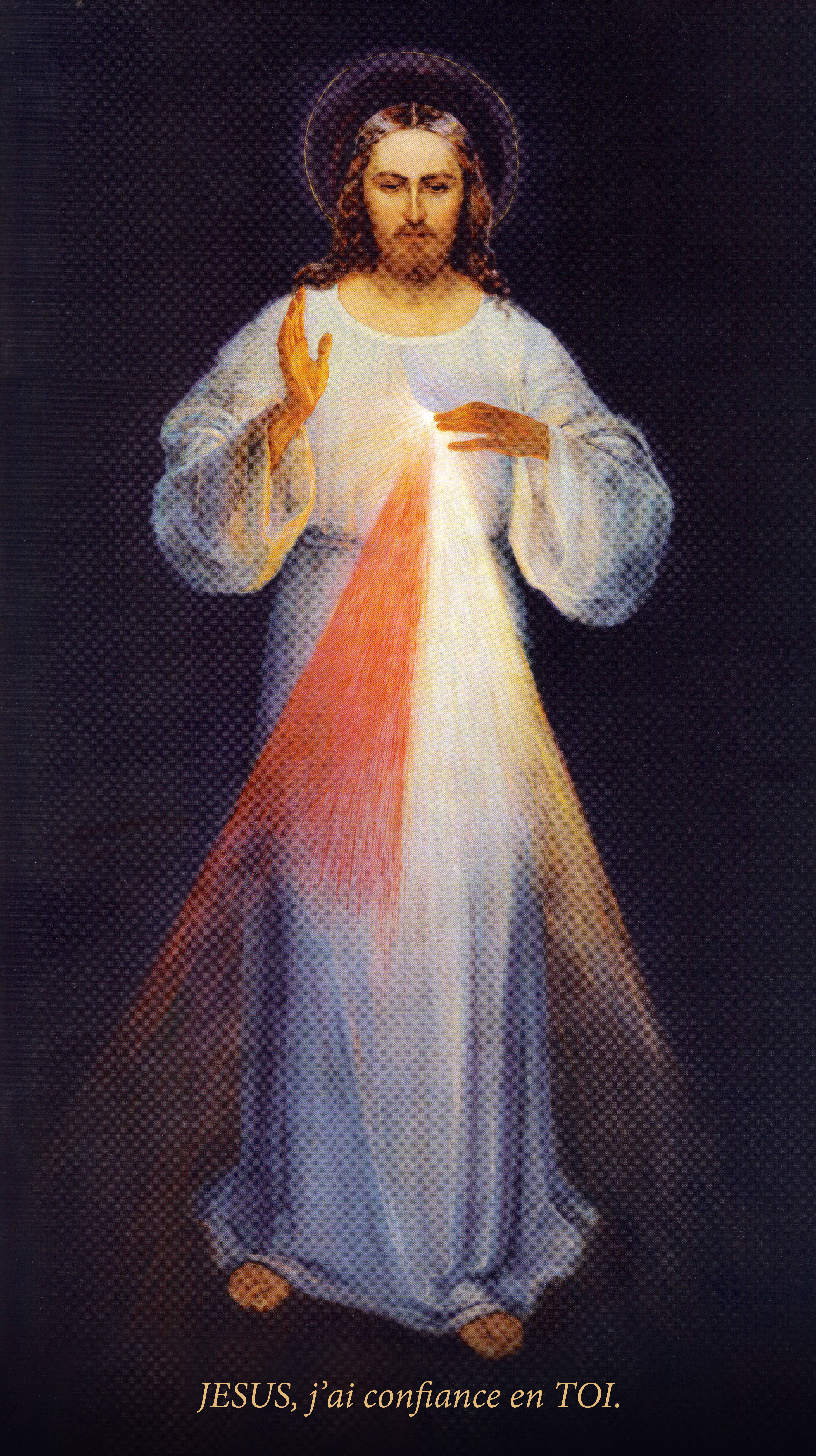 Prières pour le Salut de LA FRANCE Vrai_Tableau_Original_Divine_Mis%C3%A9ricorde_J%C3%A9sus_Confiance_Sainte_Faustine_Peintre_Eugeniusz_Kazimirowski_1934