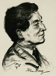 Sketch of Alban Berg by Emil Stumpp