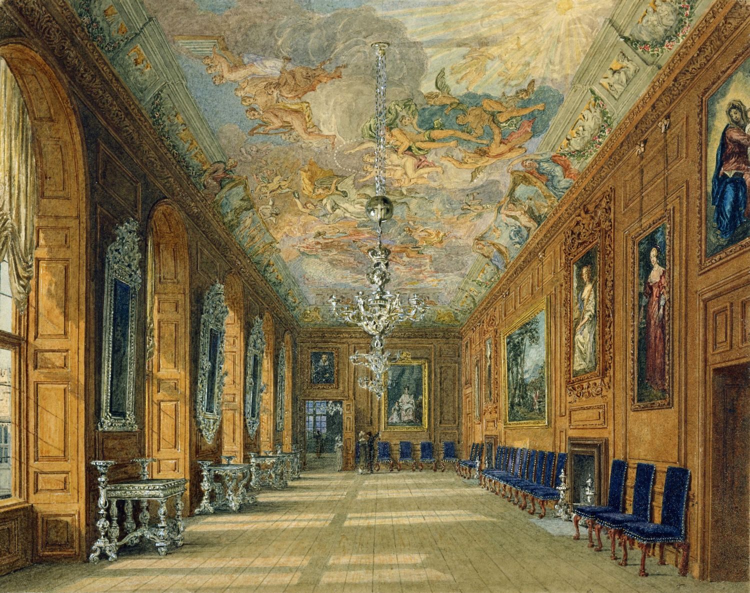 File:Windsor Castle, Queen's Ballroom, by Charles Wild ...