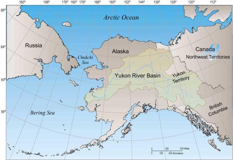 Map Of Canada Yukon River.Yukon River Basin Wikipedia