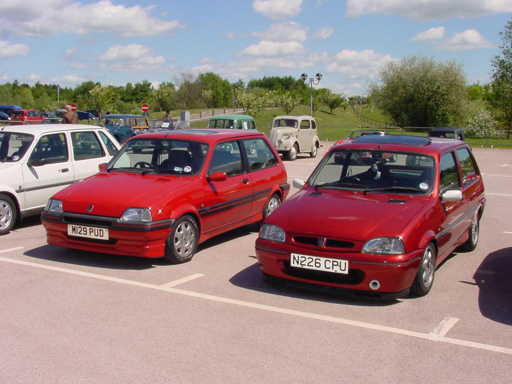 File:183 - August 1994 red Rover Metro 1.4 GTi & October ...