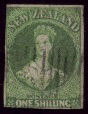 1855 Queen Victoria 1 shilling green.png
