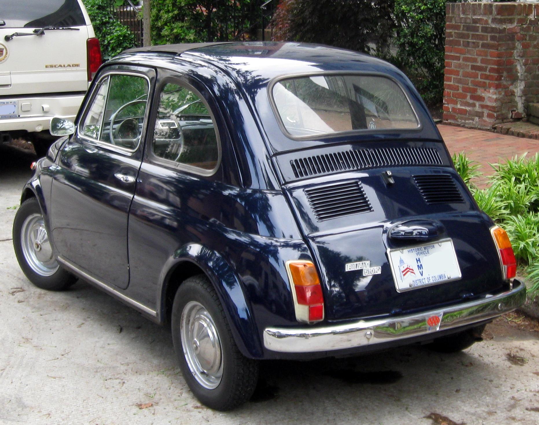 File 1971 Fiat 500 05 18 2011 Rear Jpg Wikimedia Commons