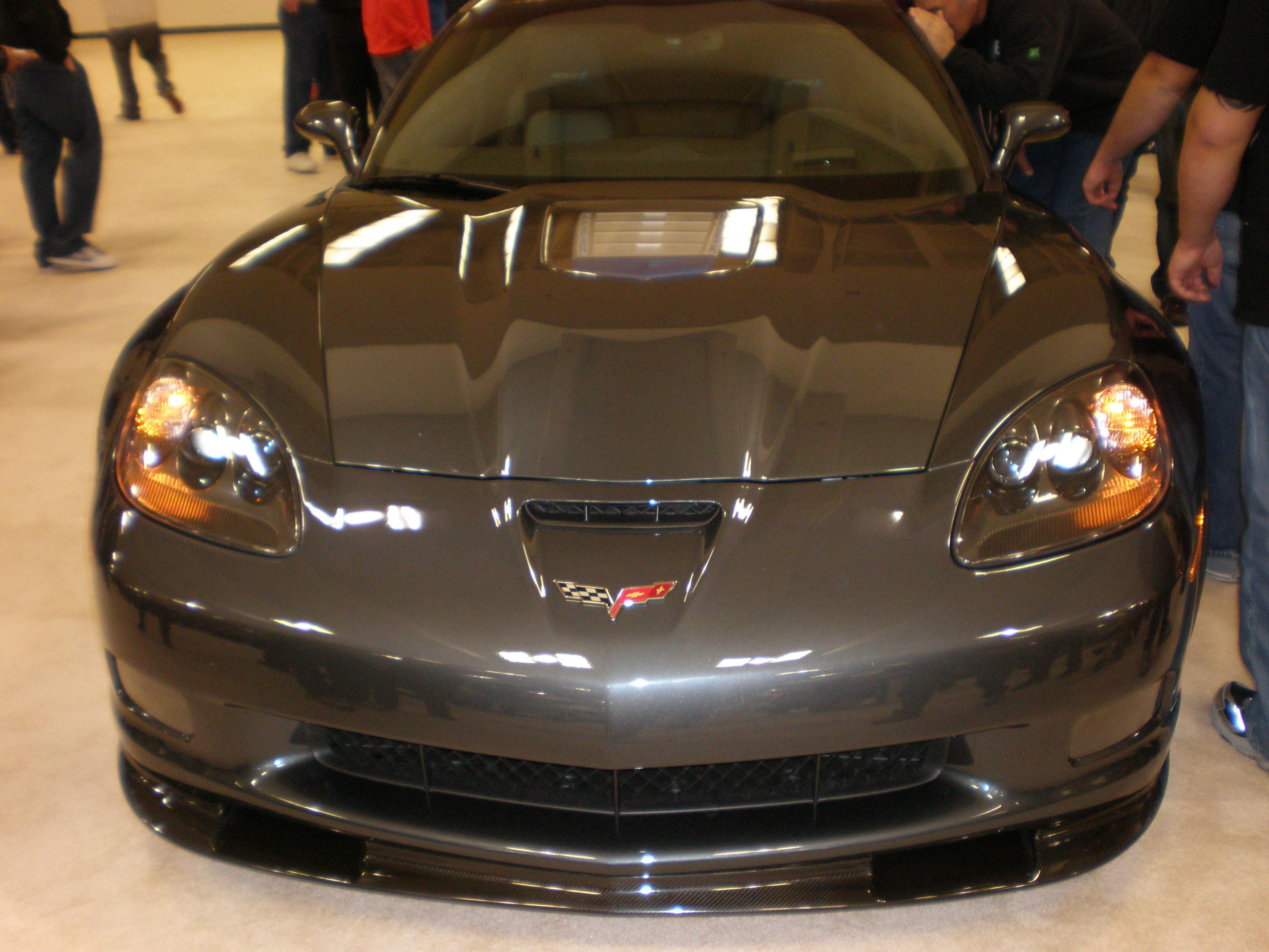 File 2009 Gray Chevrolet Corvette C6 Zr1 Front Jpg Wikimedia Commons