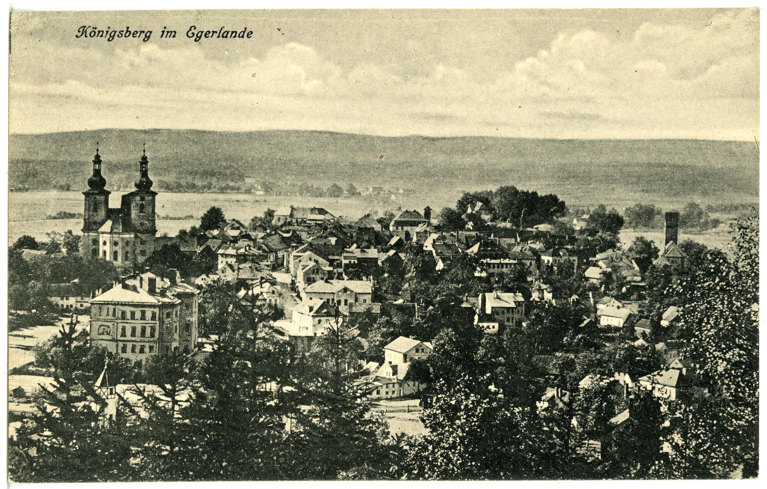 File:20678-Königsberg a. d. Eger-1917-Blick auf Königsberg-Brück ...