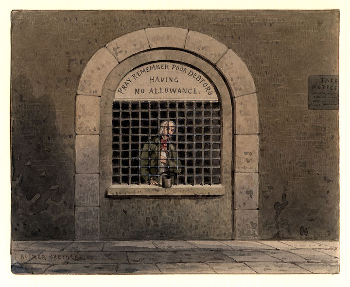 File:A debtor in Fleet Street Prison THS.jpg