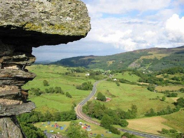 Afon Lledr valley from Dolwyddelan Castle - geograph.org.uk - 8522