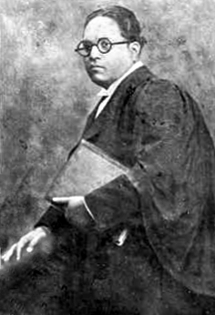 English: Dr. Ambedkar as Barrister after he wa...