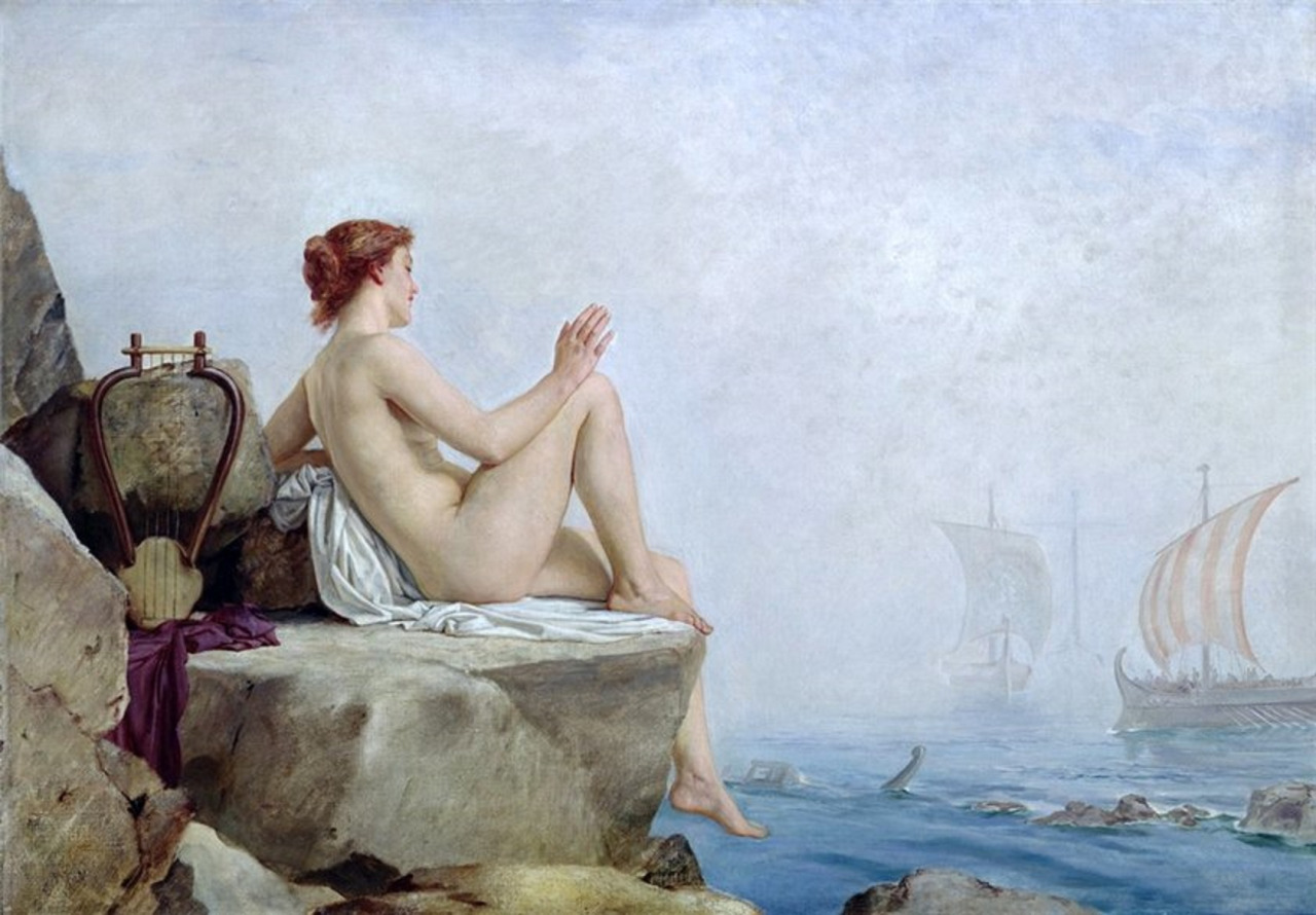 A painting called The Siren by Edward Armitage