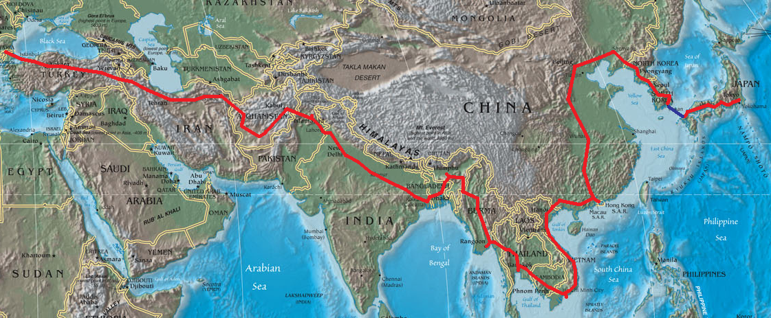 Asian sea routes