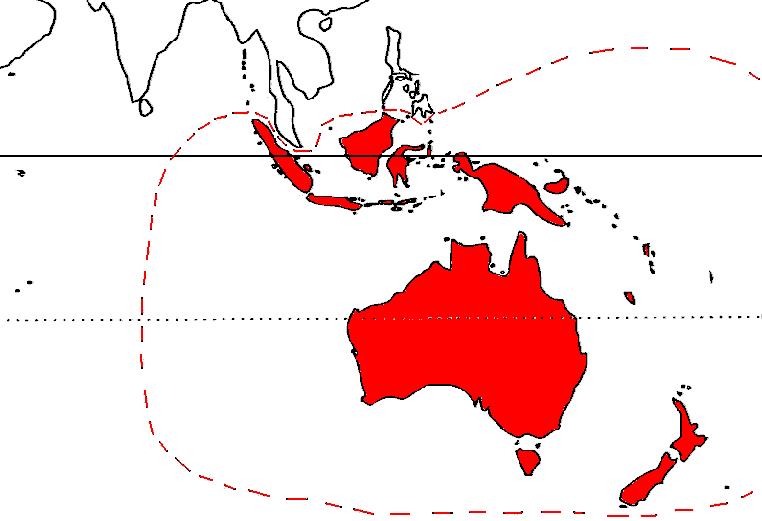 Australasia Mappa