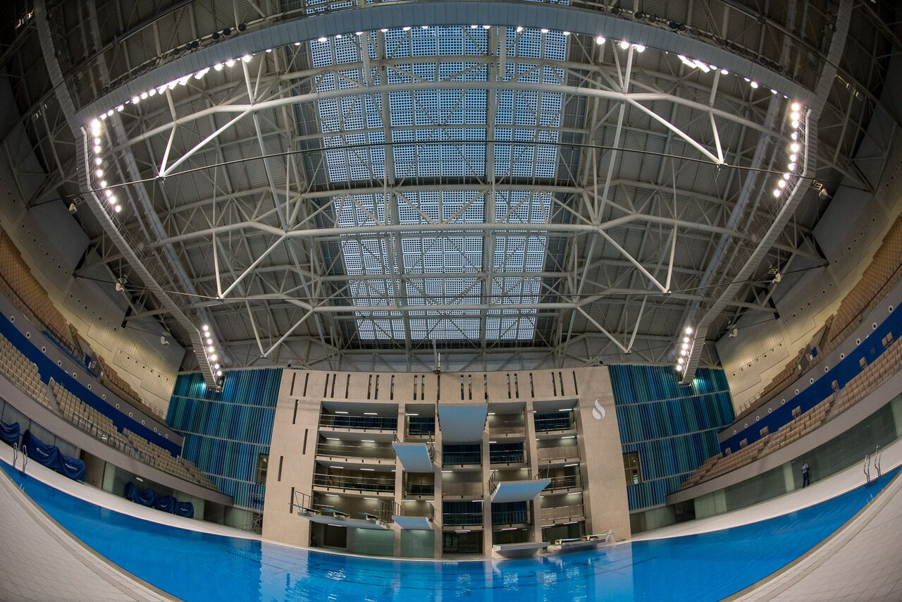 Olympic Swimming Pool 2015 file:baku aquatic palace, olympic size swimming pool, inside,