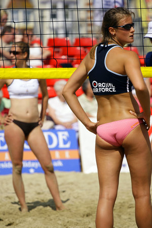 nearly nude vollyball girls