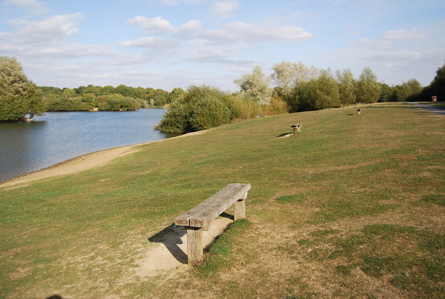 Benches, Barden Lake - geograph.org.uk - 1527638
