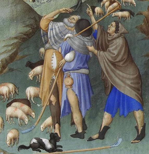 Bergers de L'Annonce aux bergers - Très Riches Heures du duc de Berry (f.48r).jpg