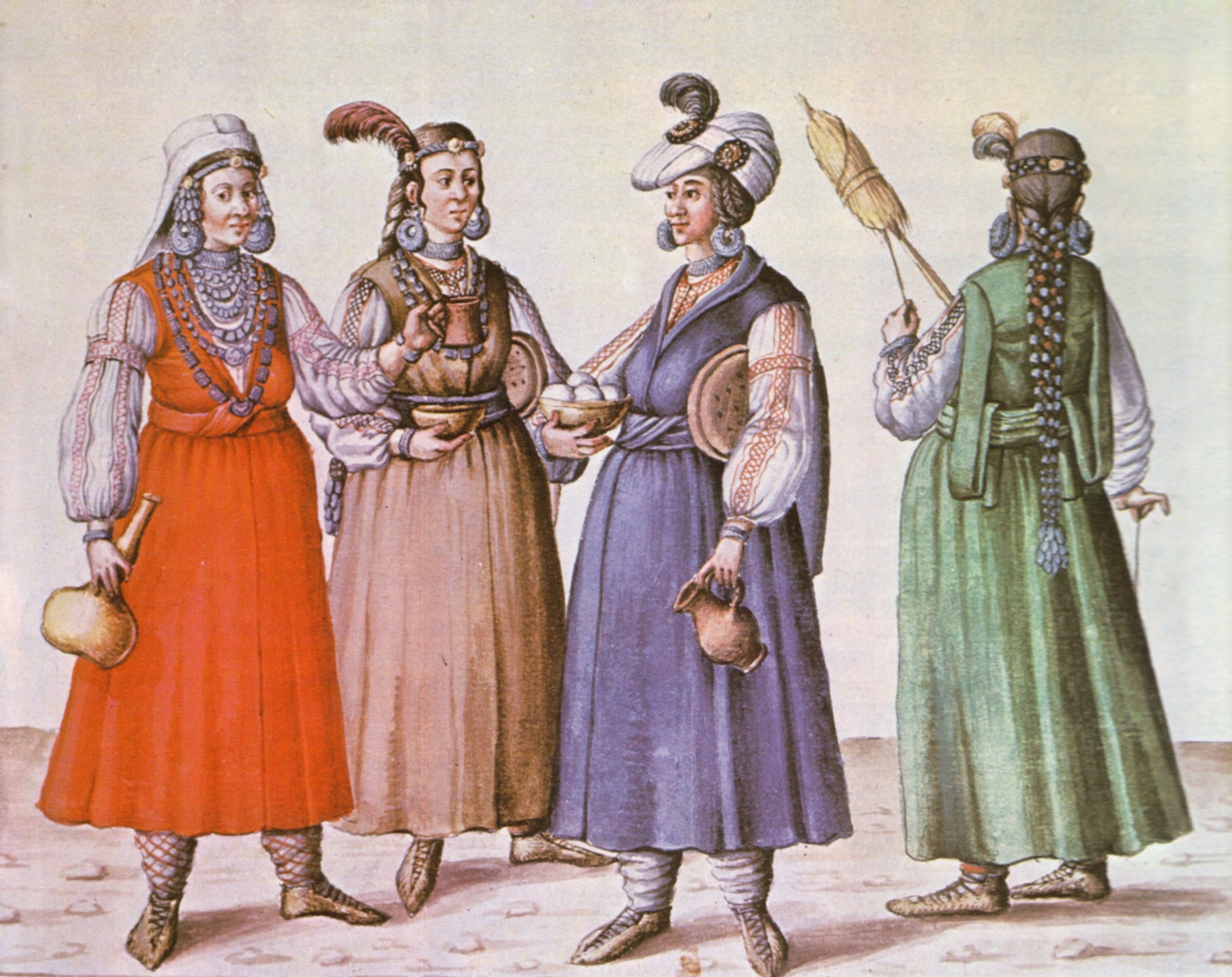 Bulgaria Girls http://en.wikipedia.org/wiki/File:Bulgarian_women_1586.jpg