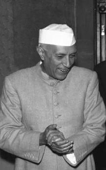Indian Prime Minister Jawaharlal Nehru and Coo...