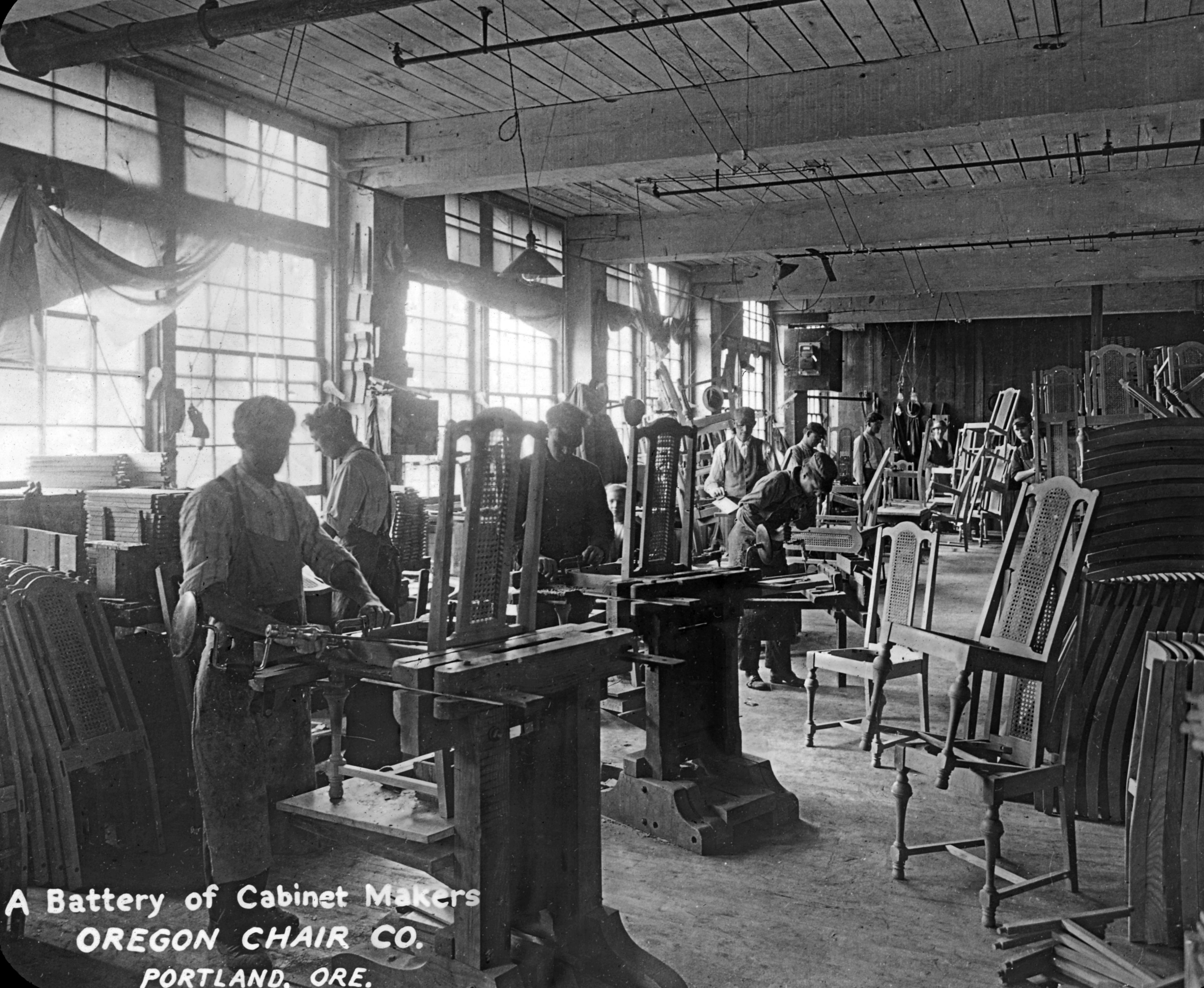 File:Cabinet makers at the Oregon Chair Company (3718628612).jpg ...