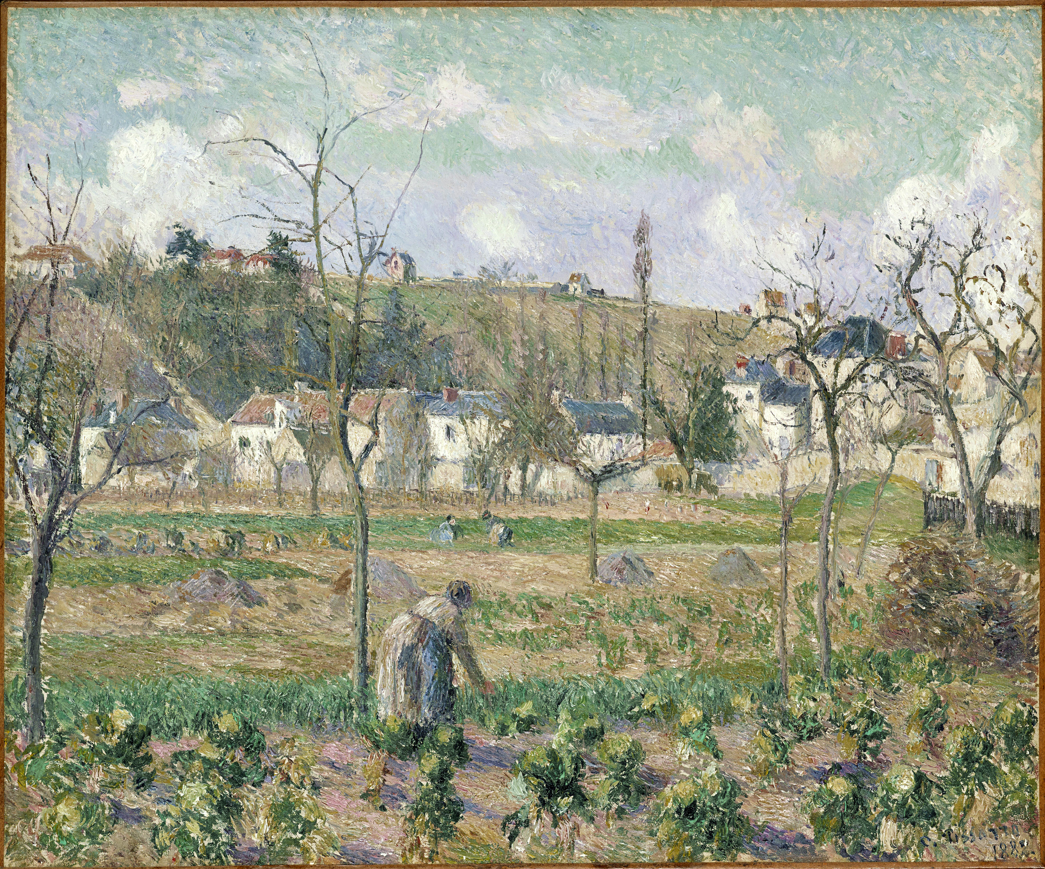Art history news camille pissarro at auction part i for Artistes de jardin