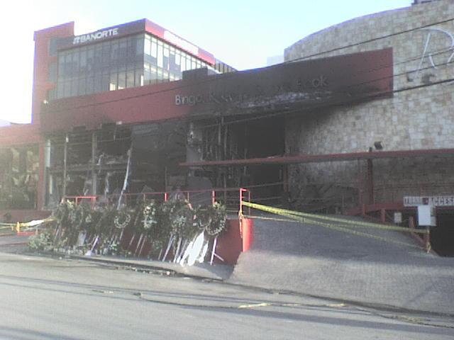 queman casino royale en monterrey