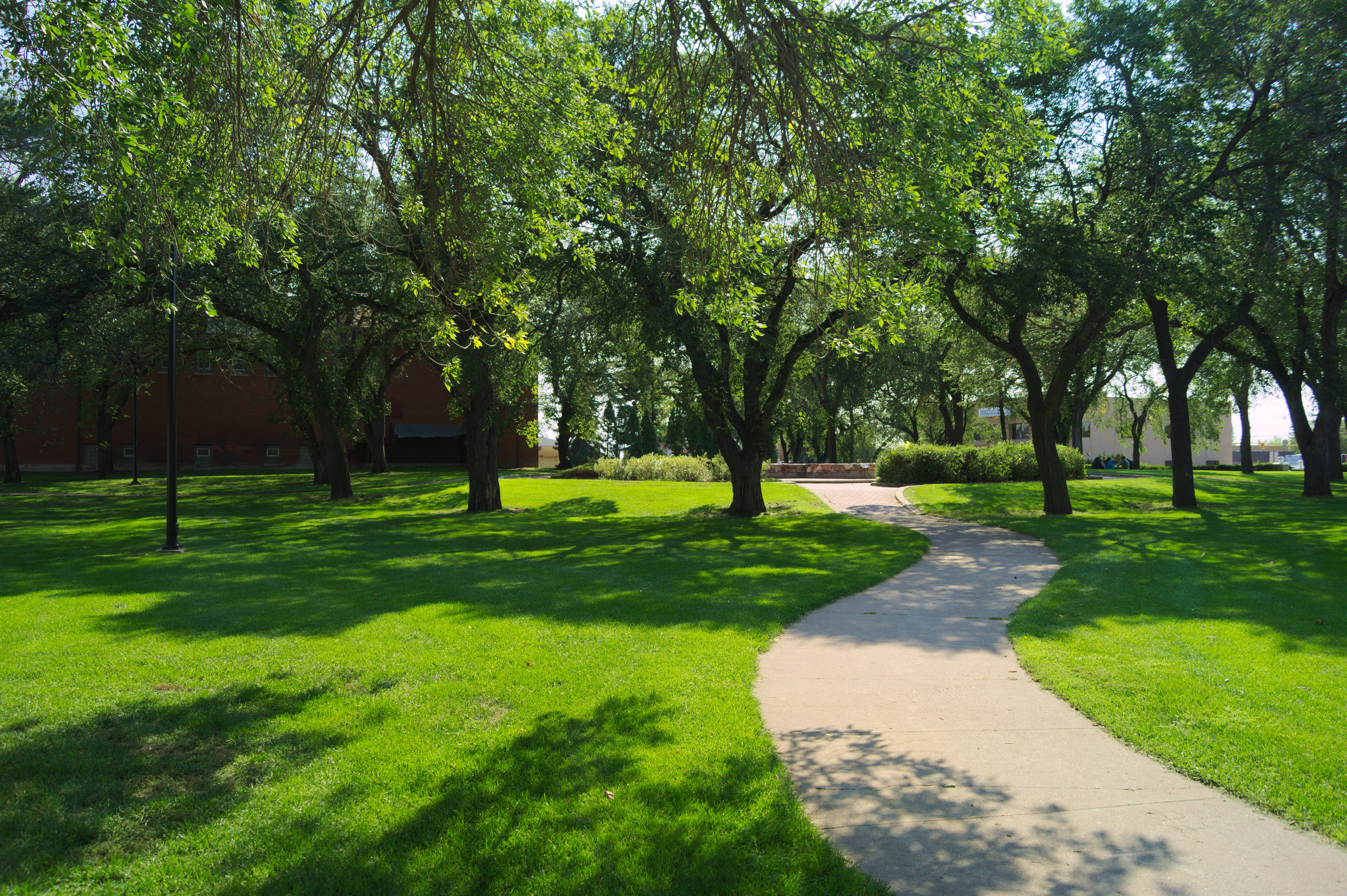 File Central Park Path In North Battleford Jpg Wikimedia