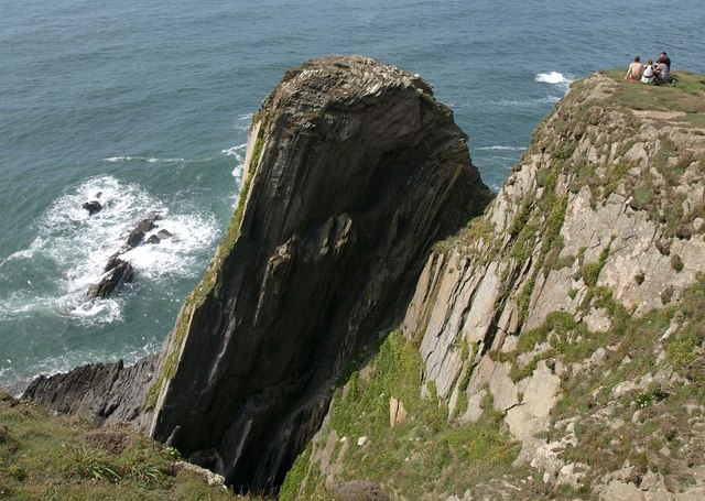 Cliff on Burgh Island - geograph.org.uk - 1475131