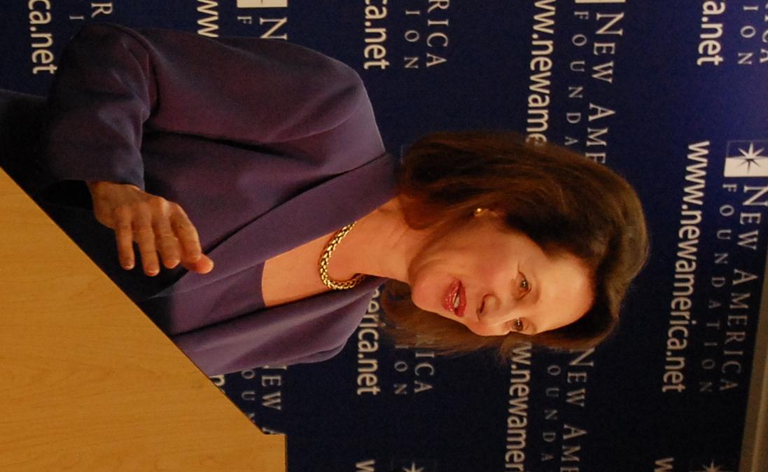 Diana Furchtgott-Roth speaking at [[New America (organization) New America]] in 2010