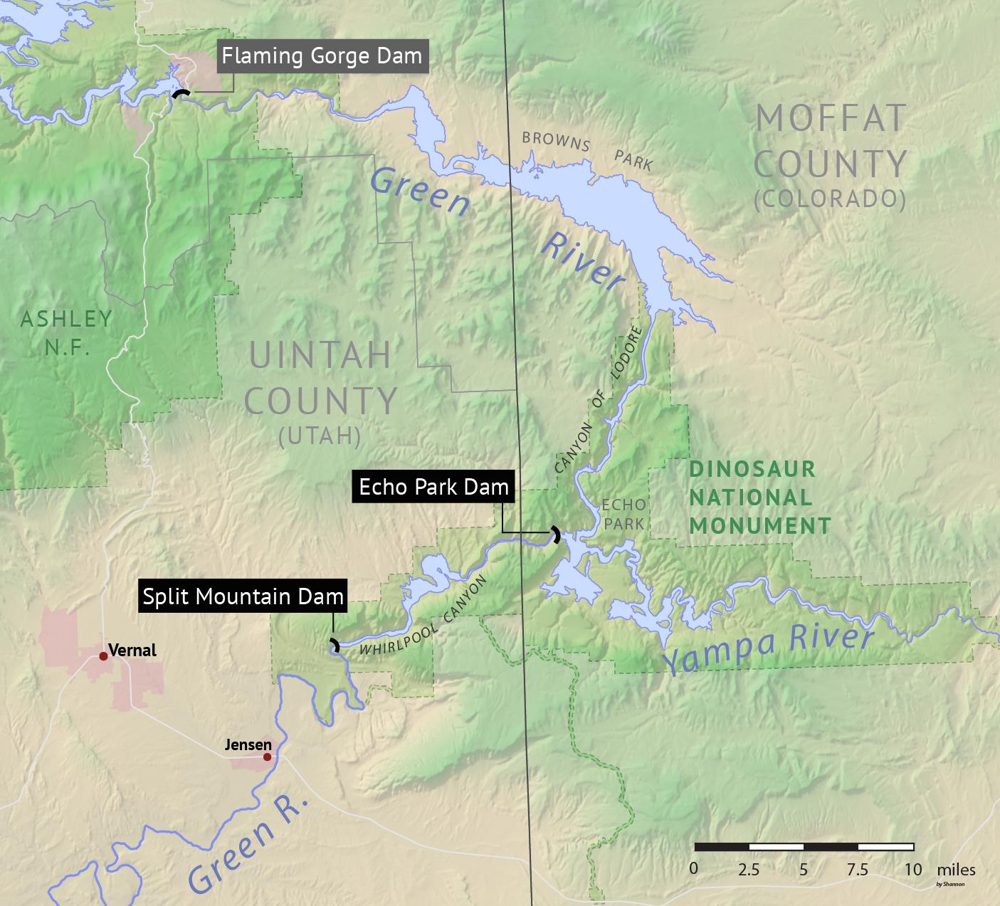 Echo Park Dam - Wikipedia Dinosaur National Monument Map on