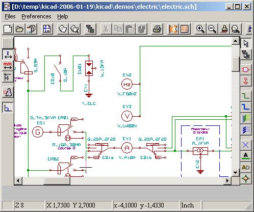 Функциональные возможности программ KiCad. eeschema обеспечивает. создание однолистовых и иерархических схем...