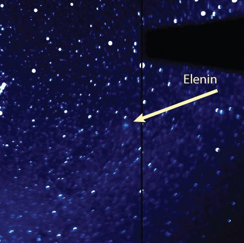 Posición del cometa Elenín (C/2010 X1).