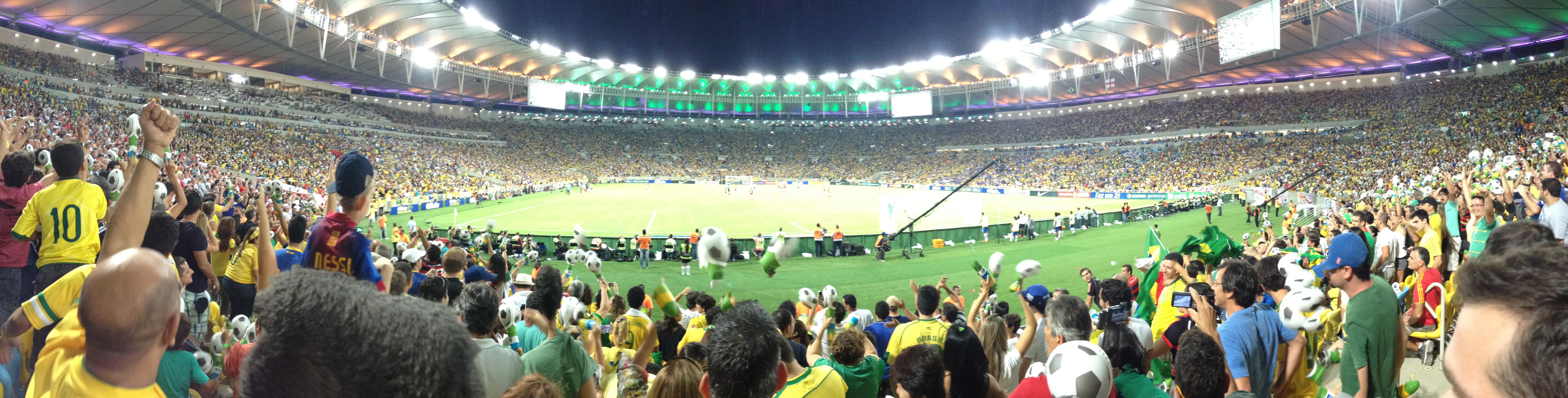 England v Brazil in Rio - Estádio do Maracanã