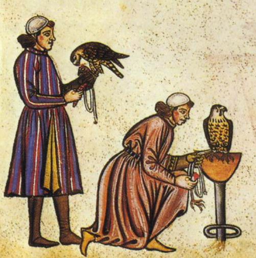 https://upload.wikimedia.org/wikipedia/commons/d/d7/Falconry_Book_of_Frederick_II_1240s_detail_falconers.jpg