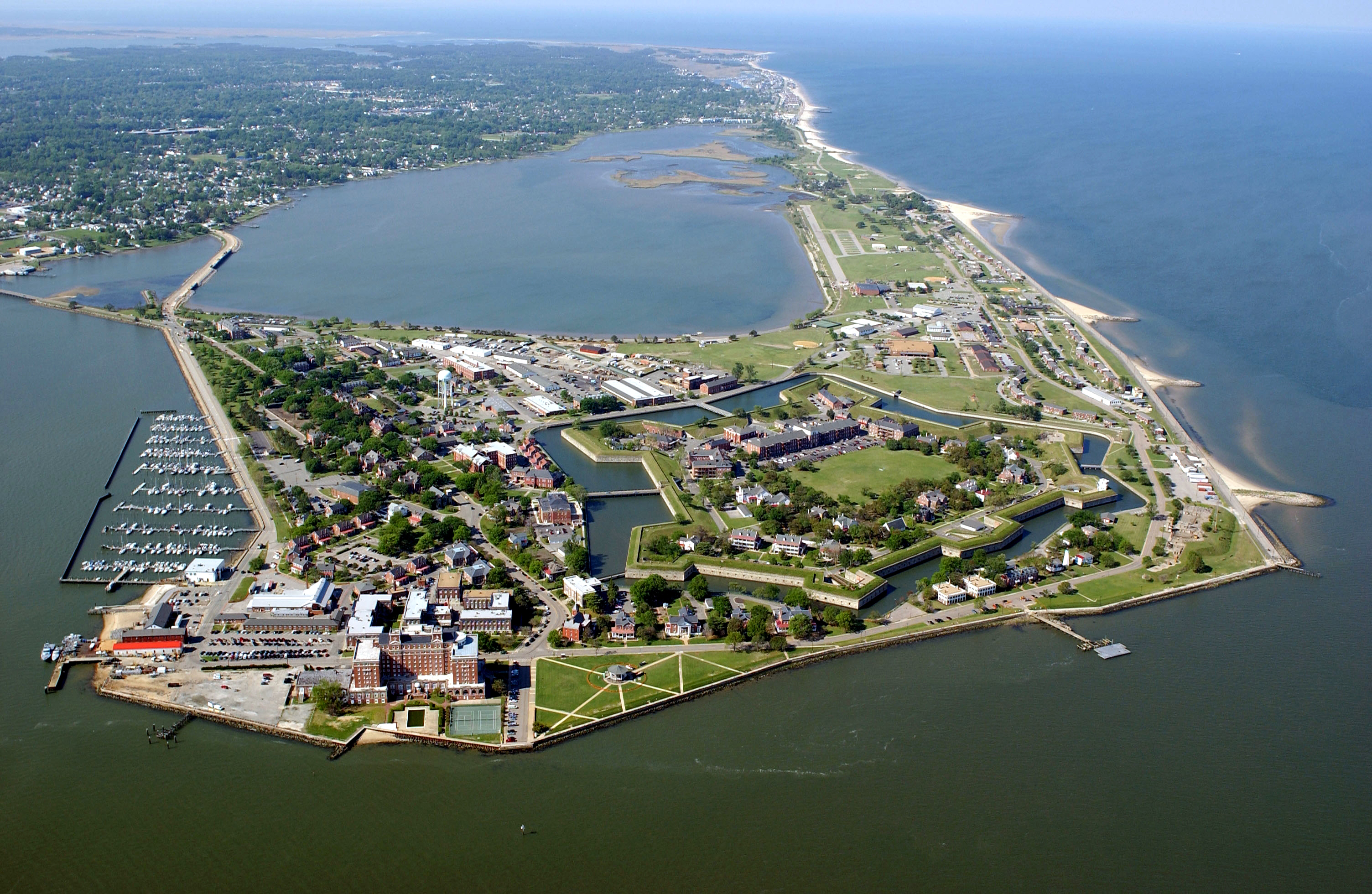 Aerial View of Fort Monroe 2004