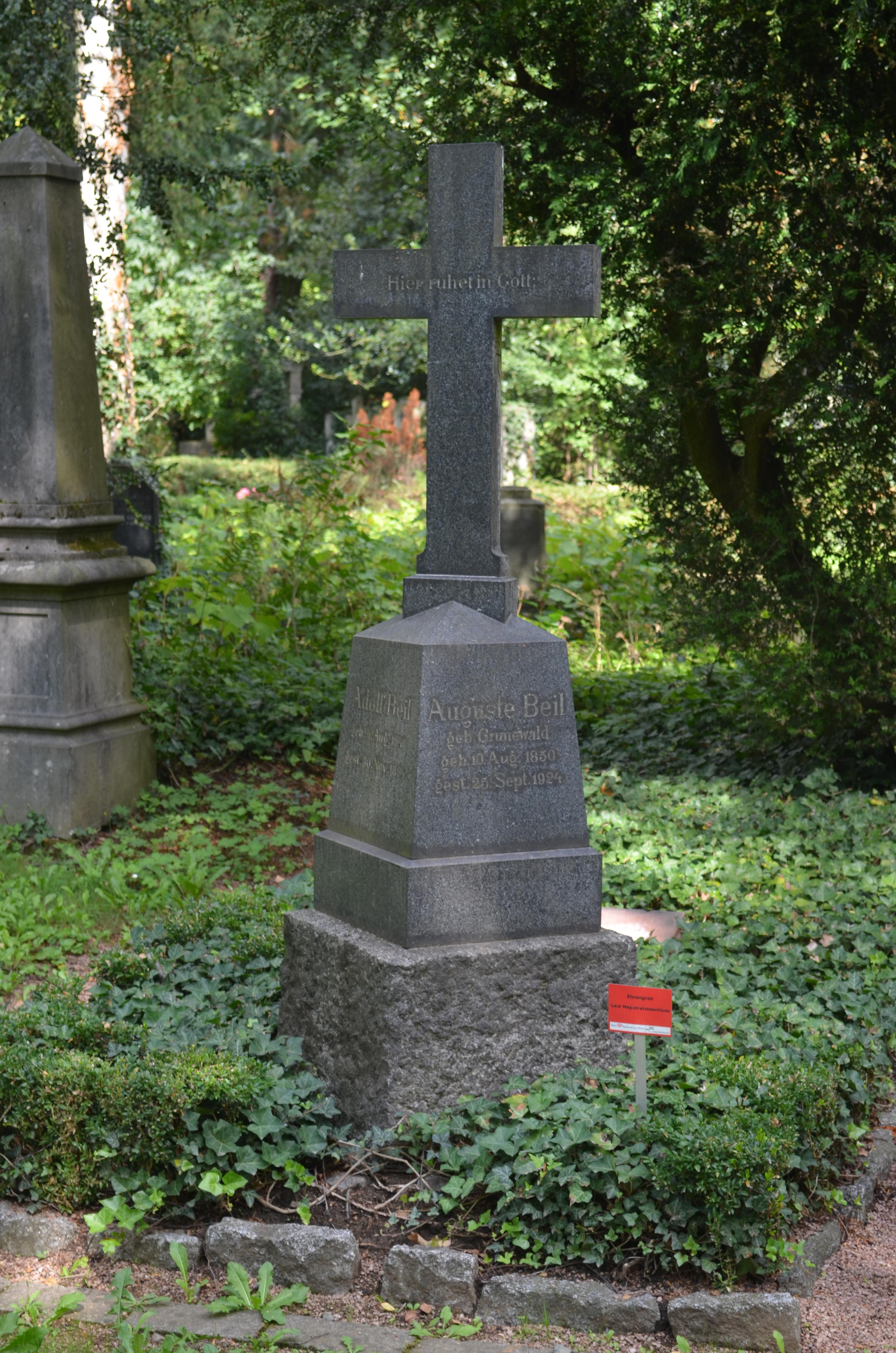 Dateifrankfurt Hauptfriedhof Grab C 7 Beiljpg Wikipedia