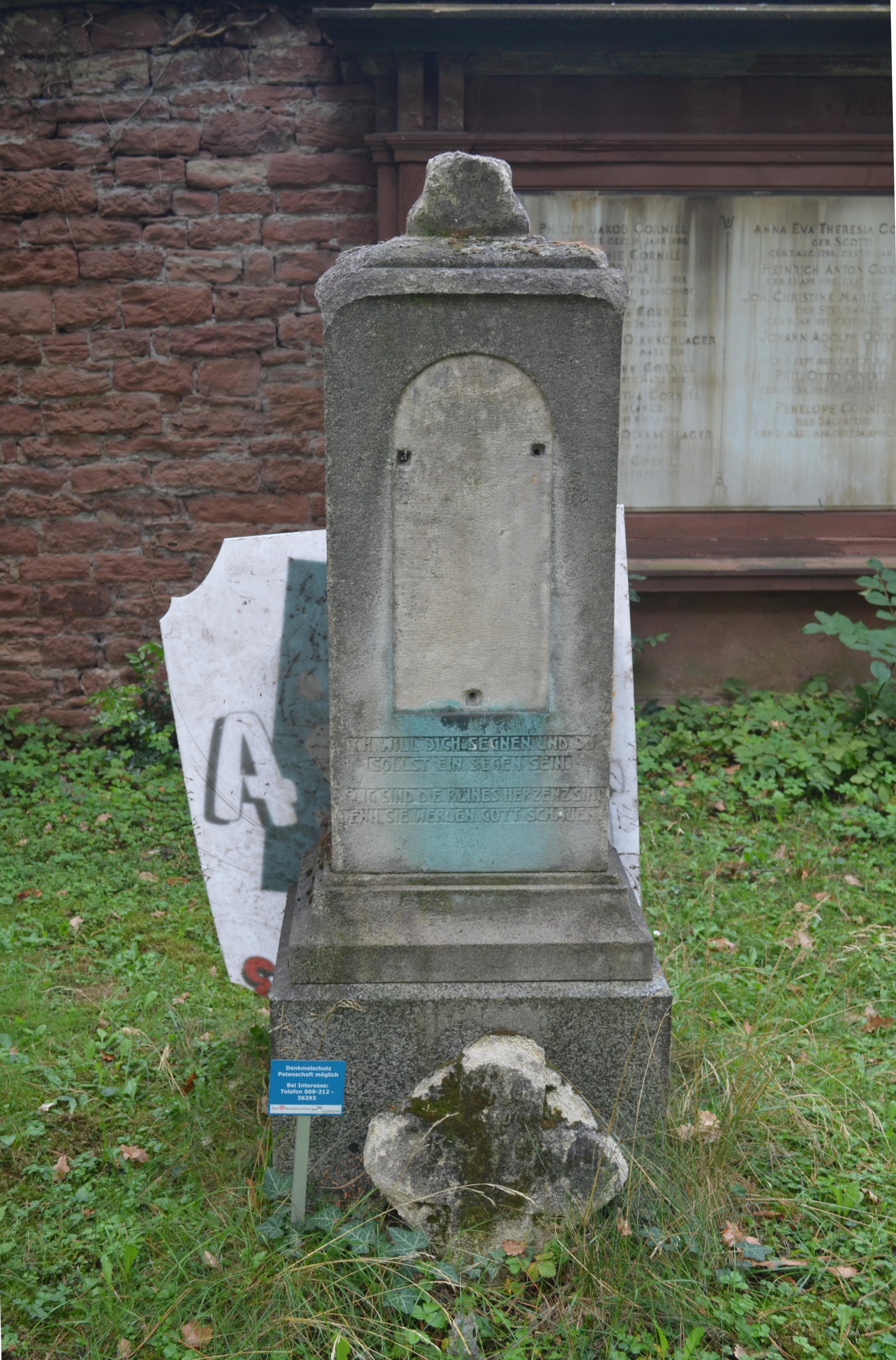Dateifrankfurt Hauptfriedhof Grab Adm 213 Cornilljpg Wikipedia