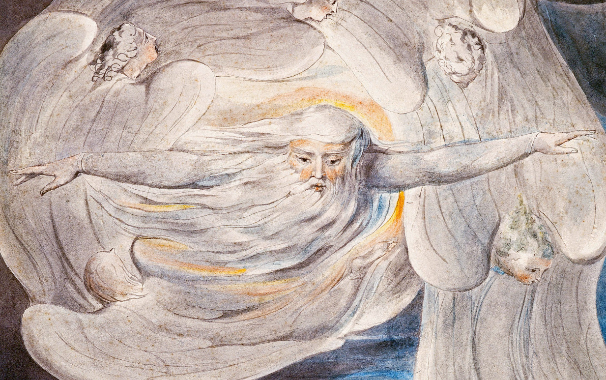 God answers Job from the Whirlwind 1803-05 (Butlin 461), detail.jpg