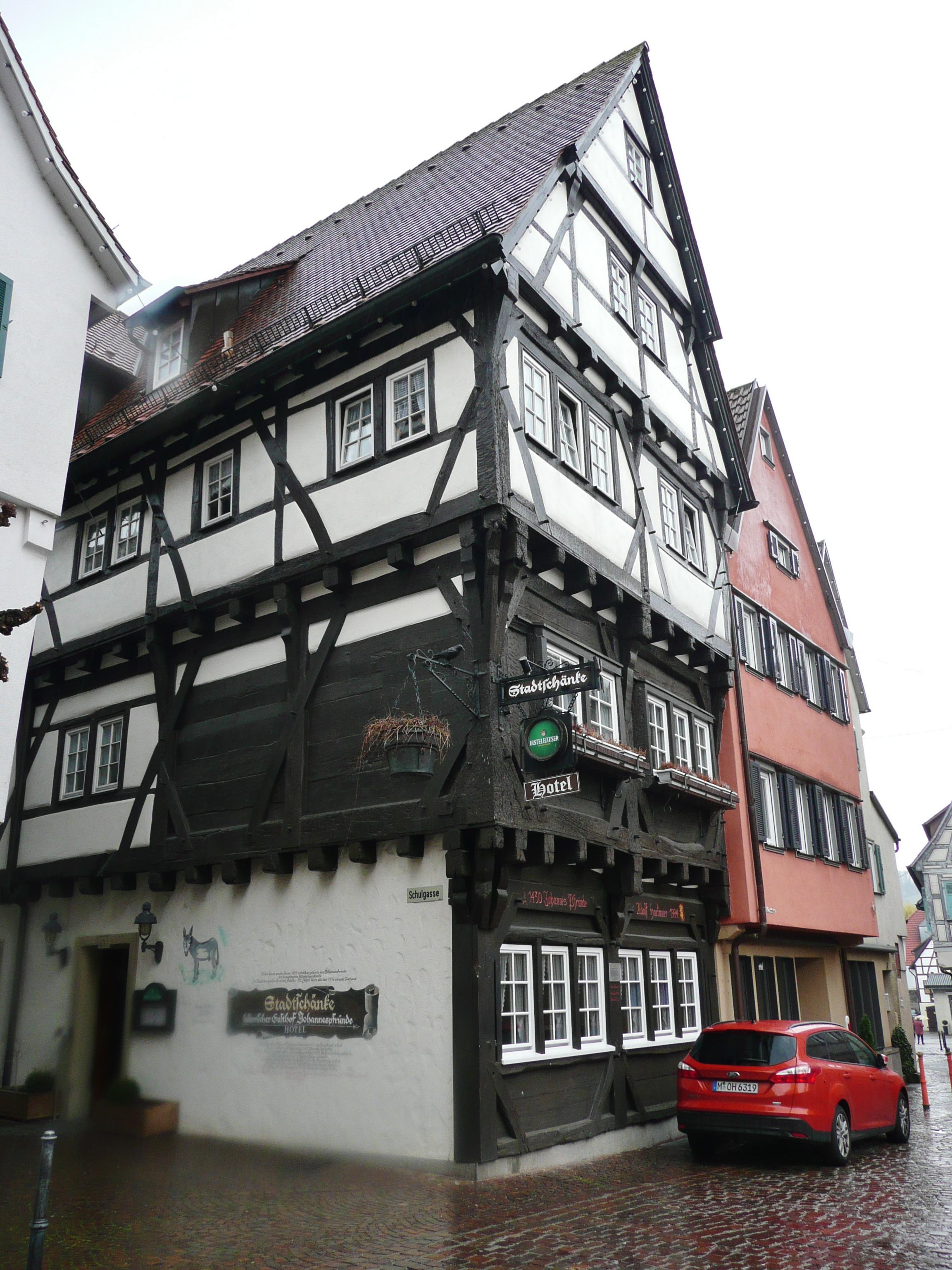 File:Großbottwar, Stadtschänke, historischer Gasthof Johannespfründe ...