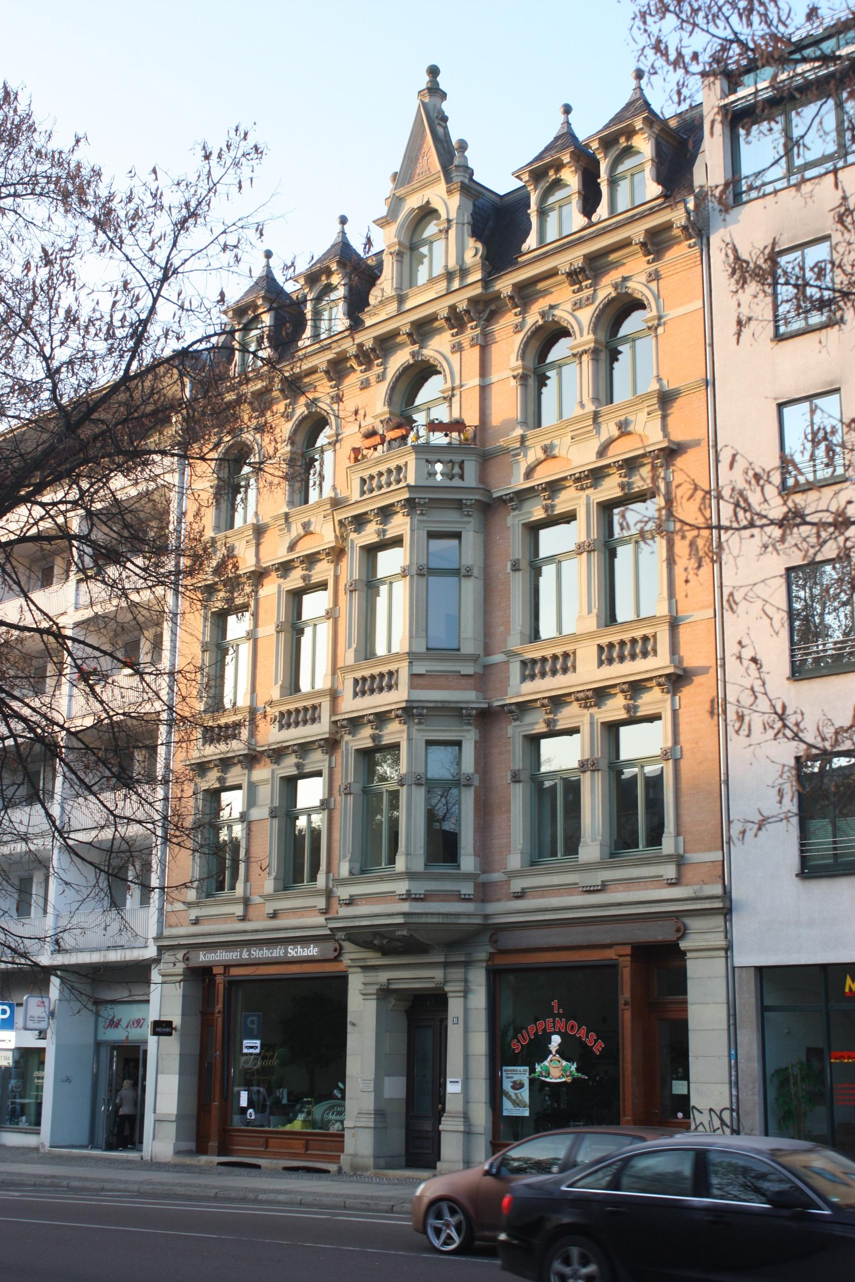 Datei Halle Saale Haus Hansering 11 Café Schade JPG
