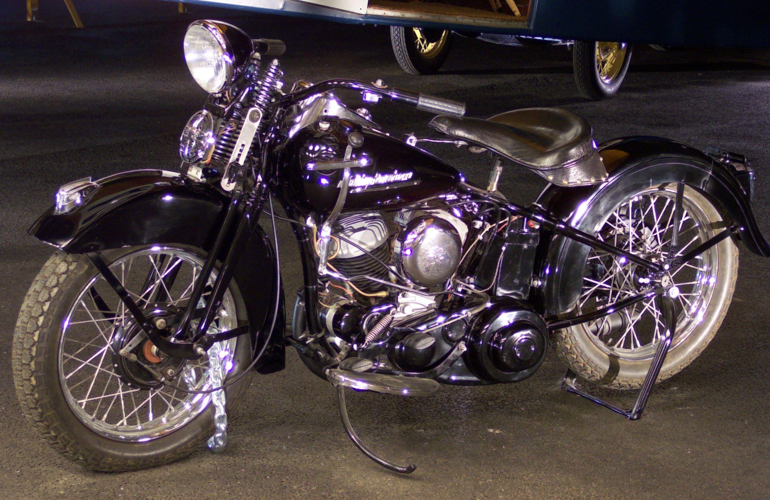 Harley Davidson Purple Bike