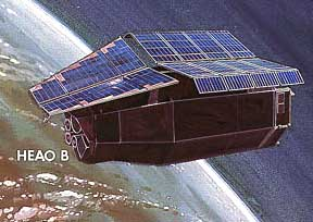 Einstein Observatory was a space-based focusing optical X-ray telescope from 1978. Heao b.jpg