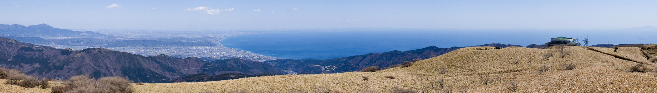 Sagami Bay as seen from Mt.Komagatake