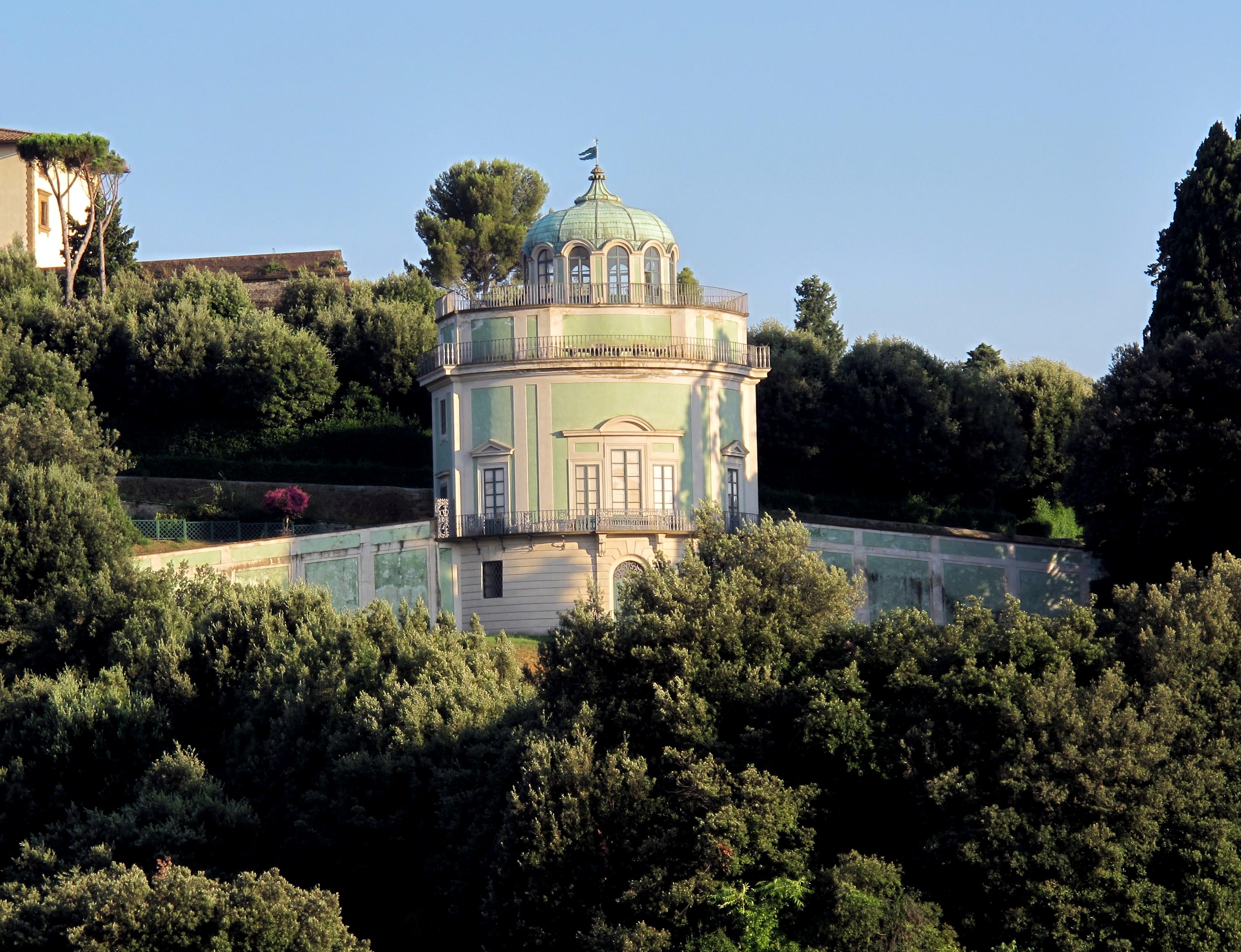 Veduta della Kaffeehaus del giardino di Boboli, Firenze