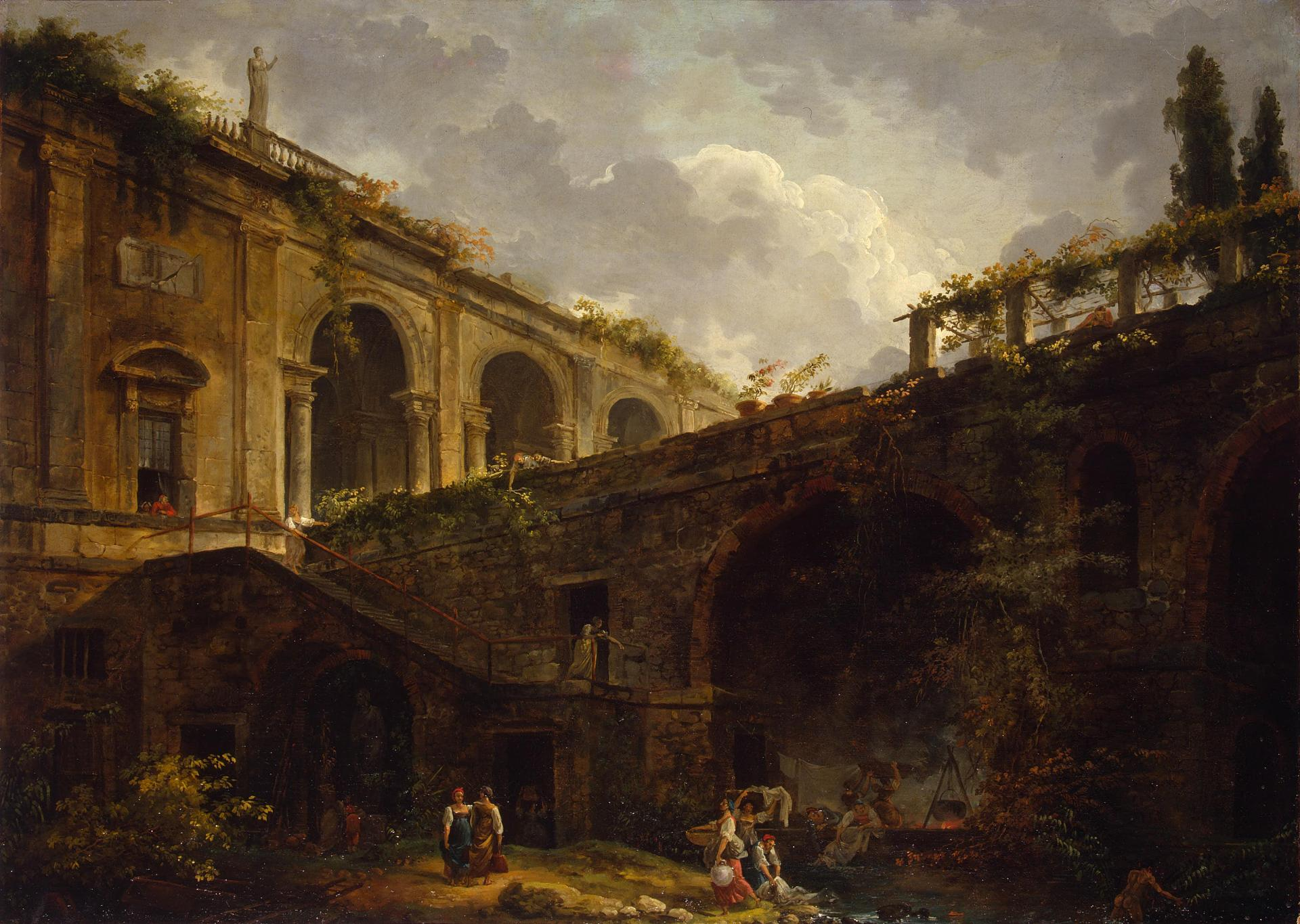 File:Hubert Robert - Villa Madama near Rome (Hermitage