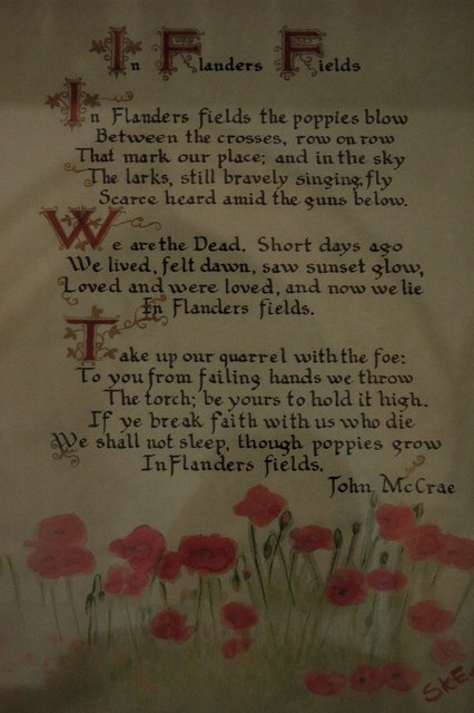 in flanders fields essay Essay example made by a student i'm going to do a comparison between john mccrae's poem, in flanders field, and siegfried sassoon's 'aftermath' both poems were written in the first world war era and both reflect certain themes from the war.
